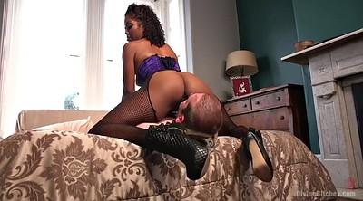 Eating pussy, Black man, White pussy, Fishnet, Face licking, Black pussy licking